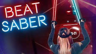 Gambar cover FROM NOOB TO PRO (not really 😆) in Beat Saber | Oculus Rift VR