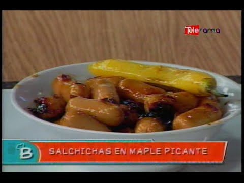 Salchichas en Maple Picante