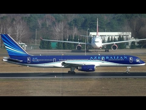 RARE AZAL Azerbaijan Airlines Boeing 757-22L Garabagh 4K-AZ11 Close up + Landing + Taxiing + Takeoff