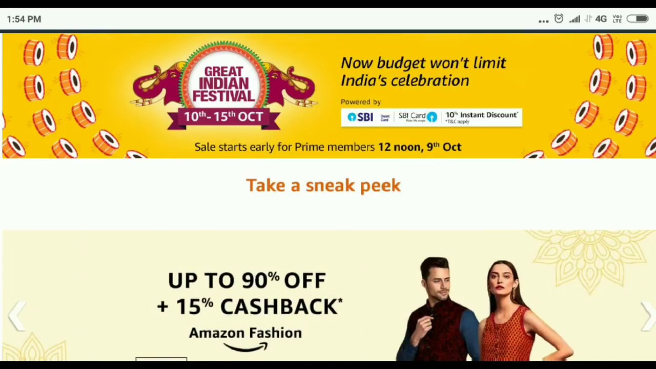 0f0508474e0f1 Amazon Great Indian Sale Oct 10 - 15 2018