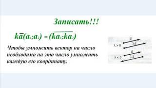 Урок 5. Векторы. Умножение вектора на число.