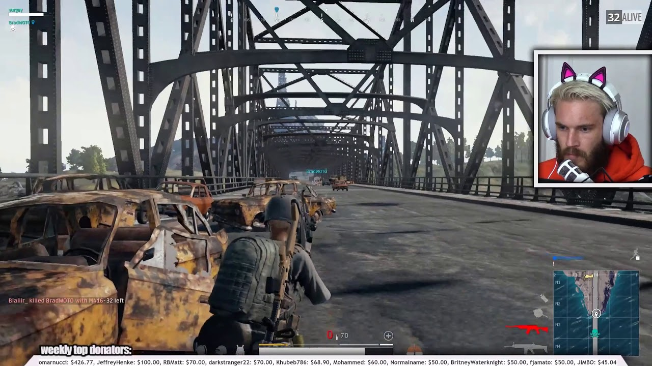 Image result for pewdiepie bridge