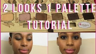 The Balm NudeTude Eyeshadow Palette Tutorial | 2 Looks 1 Palette
