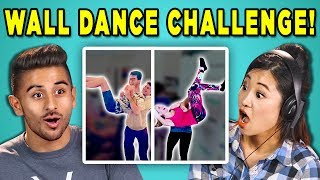 ADULTS REACT TO WALL DANCE CHALLENGE (#DabkeChallenge | Arab Dance)