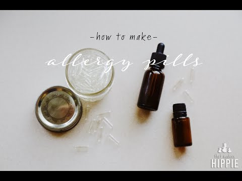 How to Make Allergy Pills