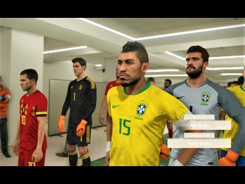Brazil vs Belgium | 2018 FIFA World Cup | PES 2018 HD