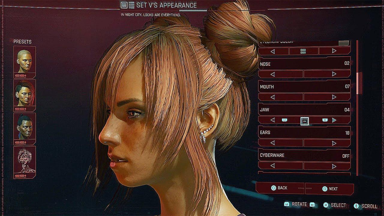 Cyberpunk 2077 - Full Female Character Customization