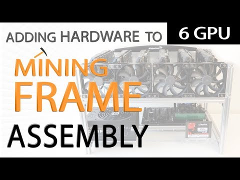 Adding Hardware To The AAAwave 6 GPU Mining Frame Assembly