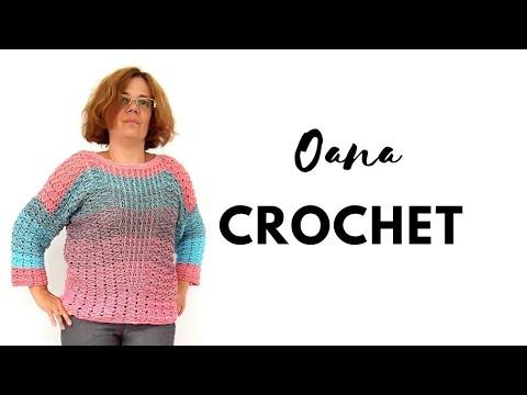 Uncinetto Indossato.Maglia Con Maniche All Uncinetto By Oana Youtube