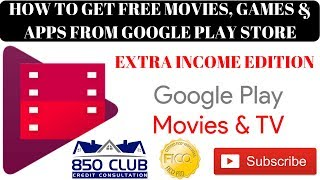 Extra Income Edition - How To Get Free Movies, Games, & Apps From Google Play Store