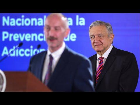 Presentación del comisionado contra las adicciones. Conferencia presidente AMLO