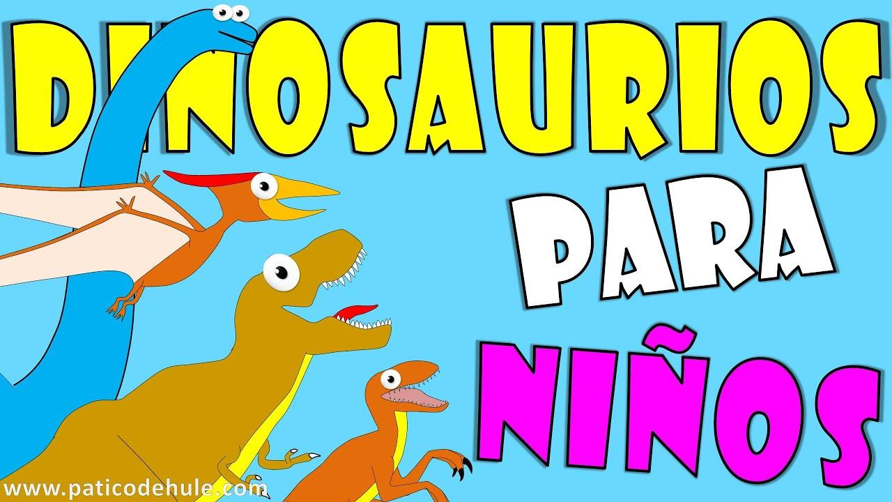 14 Dinosaurios para niños: nombres, colores y sonidos - YouTube