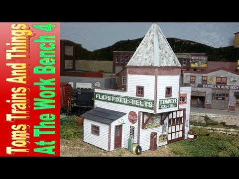 Model Railroad Structure - Tower Gas - At the Work Bench