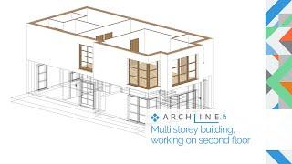 ARCHLine.XP Architectural Webinar Part 2.: Multi storey building, working on second floor