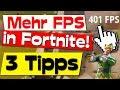 🛑MEHR FPS in FORTNITE durch diese 3 TIPPS bekommen! 🔥💻