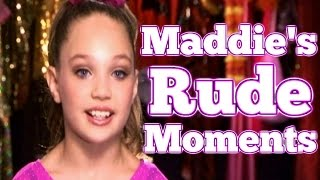 dance moms maddie zieglers rude moments