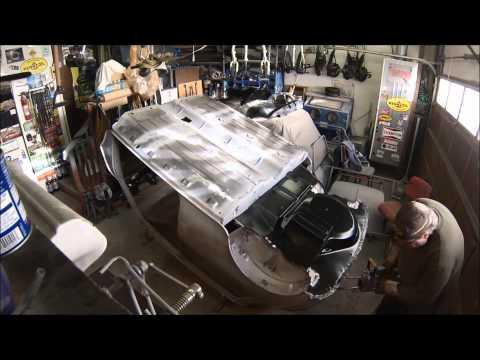 Welding in a 1967 Austin Mini floorpan Timelapse
