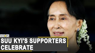 Aung san suu kyi is expected to win a second term in office when authorities myanmar release early election results on monday.#myanmar #myanmarelection #a...