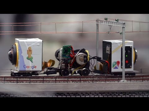 360 Video Camera from Google Street View for Photo Mapping a Model Railway Layout
