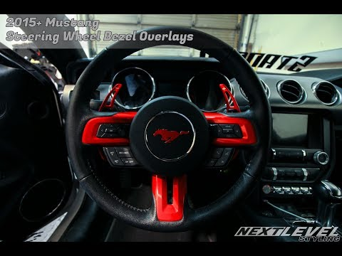 Mustang steering wheel decal overlay cover install video ( Carbon Fiber ) Pony