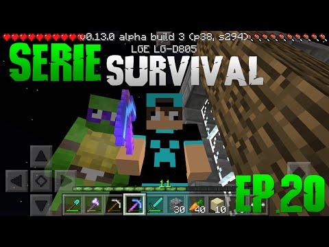 Minecraft PE 0.13.0 COM MEU IRMÃO!!! Série Survivalito #20