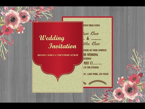 How to design a modern wedding invitation card in