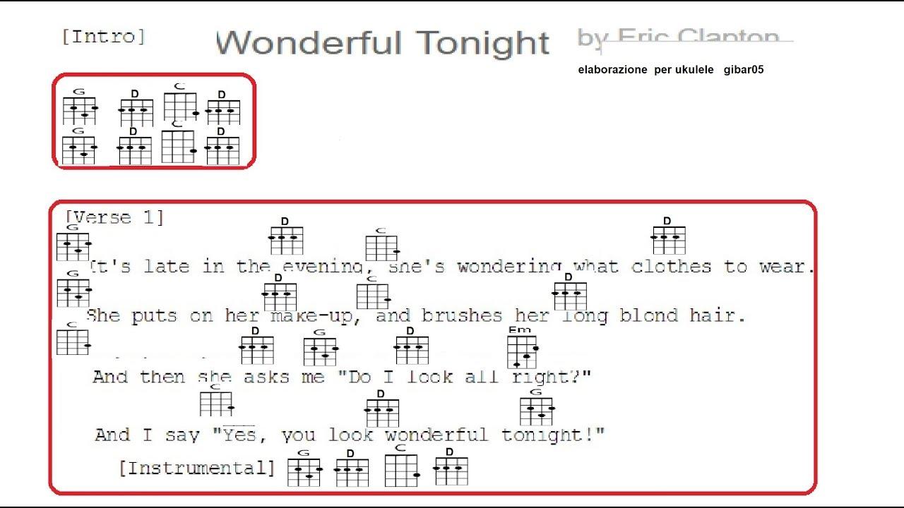 Wonderful tonight chords you look Chord Eric