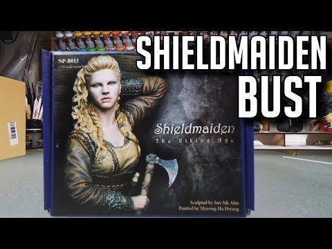 Viking Shield Maiden Resin Bust From Nuts Planet And Hanger18miniatures