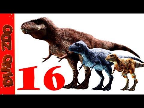 Арктический Тираннозавр и Целюр Зоопарк динозавров dino zoo 16