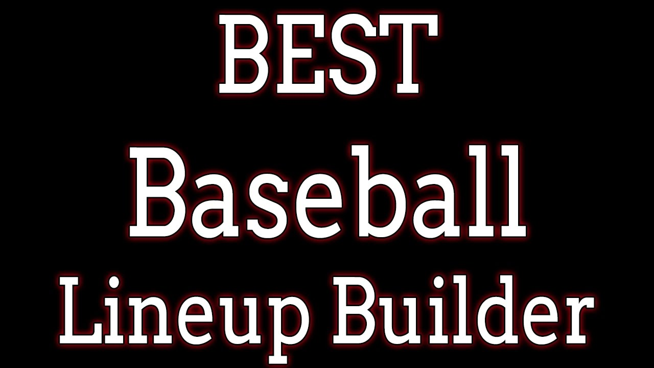 baseball lineup card generator