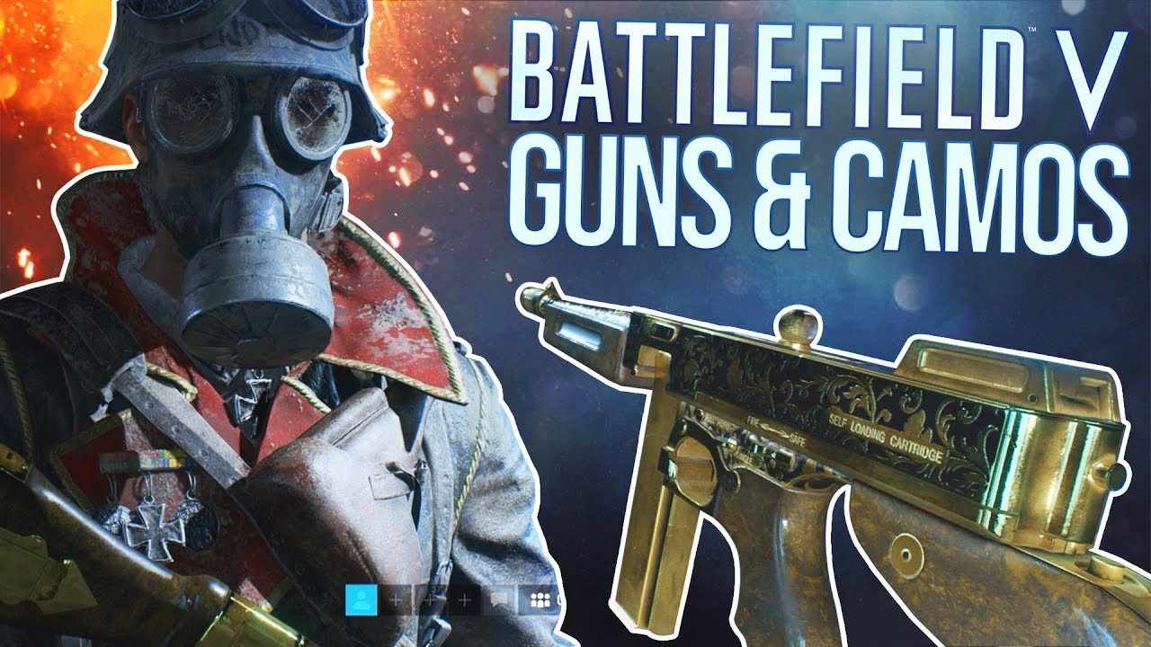 Battlefield V: All Guns, Camos, & Outfits