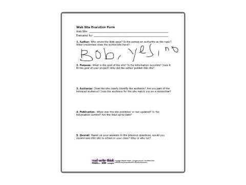 Evaluating Sources Worksheet Instructions - YouTube