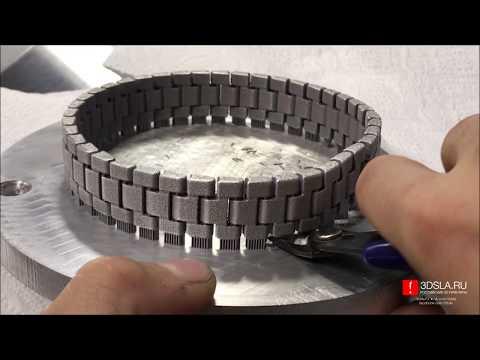 Печать неразборной металлической цепи на 3D SLM принтере