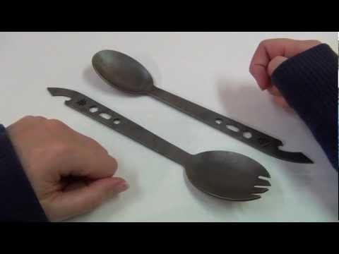 American Kami - Titanium Spork & Spoon
