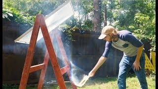Burning stuff with a giant fresnel lens + how a DLP projector works