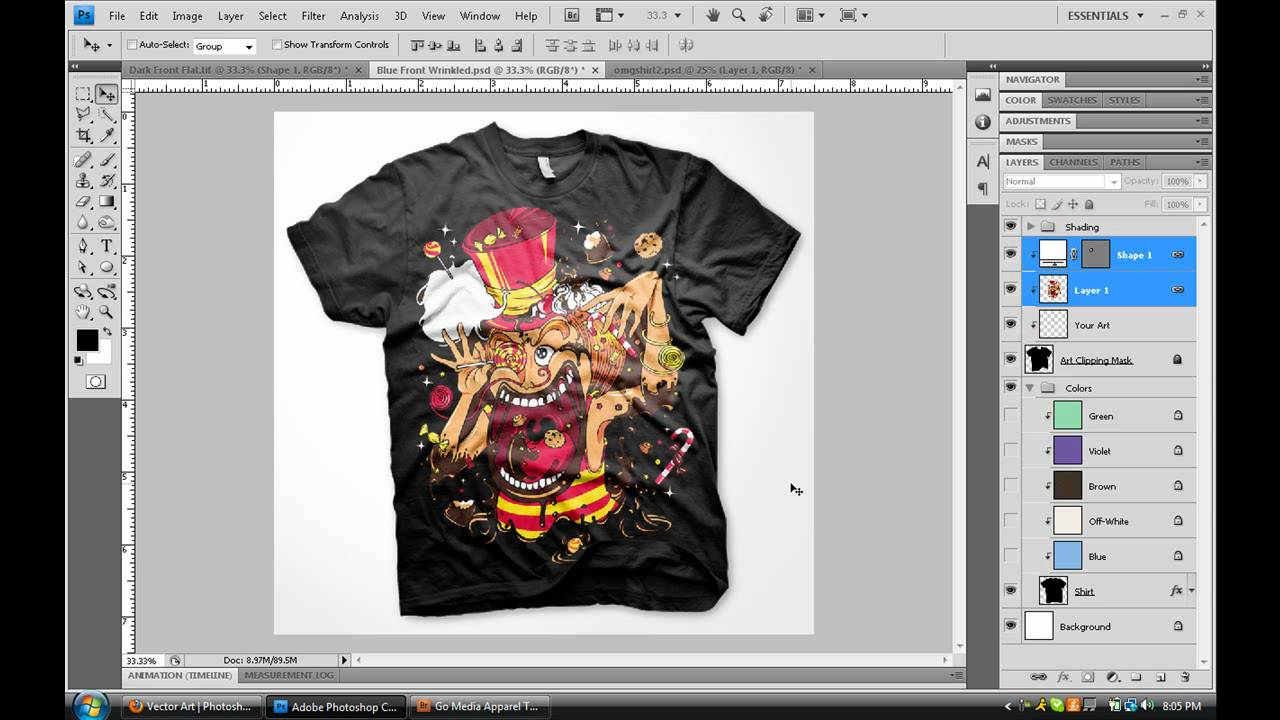Create custom digital apparel photoshop tutorial youtube How to design shirt