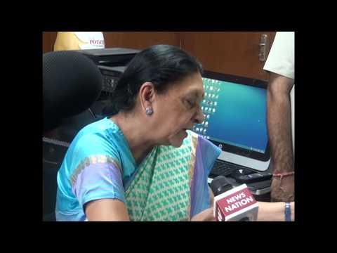 Gujarat CM's media byte after reviewing rainfall situations at Palanpur (Hindi)