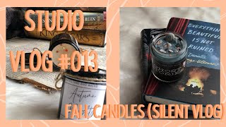 Etsy Studio Vlog #013 - MAKING FALL CANDLES (no talking)