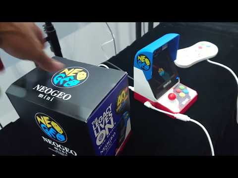 E3 2018 NEO Geo Mini with Games, start, play looks awesome - Unedited