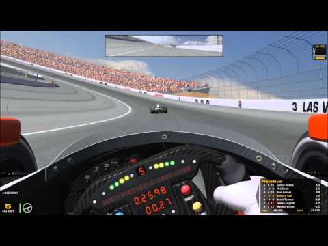 """Playing Roulette at over 300 kph!"" (Dallara DW12 Indycar at Las Vegas Motor Speedway)"