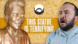 TERRIFYING CELEBRITY STATUE | Wheezy Waiter