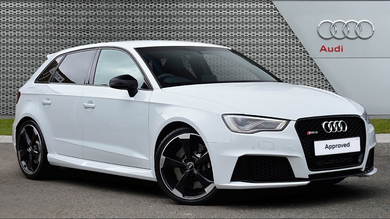 audi a3 rs3 sportback quattro nav white 2016 youtube. Black Bedroom Furniture Sets. Home Design Ideas