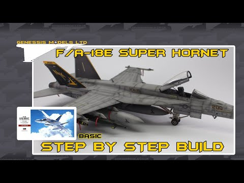 Hasegawa : F/A-18E Super Hornet : 1/48 Scale Model : Step By Step Video Build : Episode.1