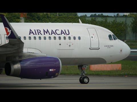 Air Macau Airbus A320-200 B-MCF Landing at NRT 34R