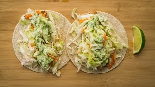 Chef Beckys Fish Tacos with Cilantro-Lime Ranch Dressing