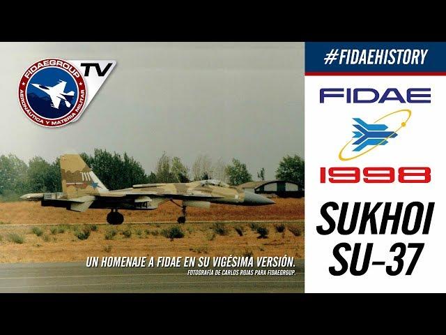 Sukhoi Su-37 Сухой Су-37 y su maniobra Cobra en FIDAE 1998, Incredible demostration