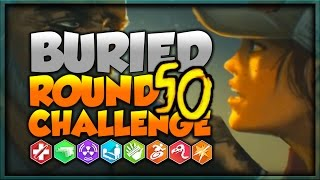 😬Buried Round 50 AND Perkaholic Challenge!😬 | Black Ops 2 Zombies