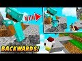 ARMOR BACKWARDS SKIN TROLL! - Minecraft SKYWARS TROLLING (FAKE HACKER?)