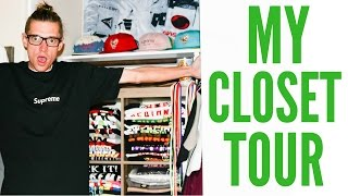 SUPREME NEW YORK IN MY CLOSET!? SLEEPYS CLOSET TOUR!!