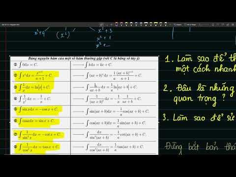 Bài 1: Nạp siêu tốc công thức nguyên hàm trong 30 phút